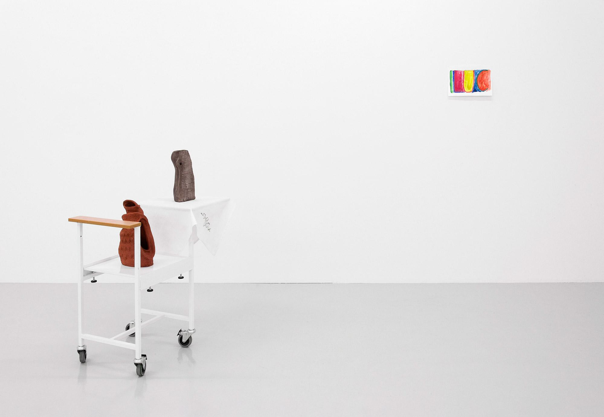 Installaationäkymä yksityisnäyttelystä Kööpenhaminassa. Kuva: Kevin Malcolm